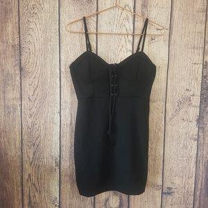 Forever 21 black mini dress size L